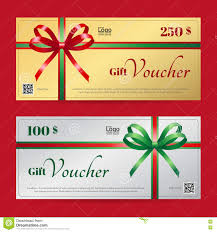 elegant christmas gift card or gift voucher template stock vector elegant christmas gift voucher or gift card template stock photos