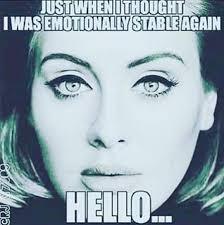 Adele Cartoons/Edits/Memes on Pinterest | Adele, Humor and Karaoke via Relatably.com