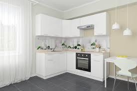 Купить Сити 2,01х1,<b>61</b> м белый модульный кухонный гарнитур с ...