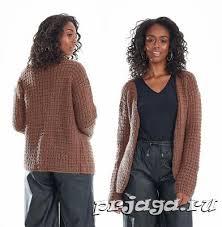Женское пальто и <b>кардиган</b> спицами или крючком