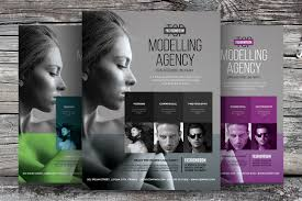 professional model agency flyer flyer templates on creative market
