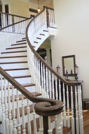 attractive stair designs interior with unique architecture design awesome classic curve concrete staircase design with awesome white brown wood