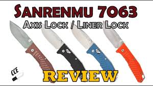 Review of the <b>Sanrenmu 7063</b> Both the Liner Lock and Axis Lock ...