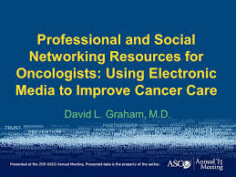 professional and social networking resources for oncologists slide