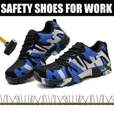 Safety Shoes Mens <b>Steel Toe Cap Anti smashing</b> Work shoes ...