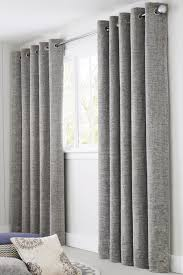 Silver Curtains For Bedroom Buy Silver Textured Chenille Eyelet Curtains From The Next Uk
