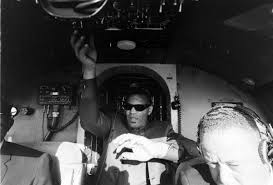 ray charles video museum bobby and ray  ray charles taking over the cockpit of his company plane the buzzard a viscount 400 tail n923rc during a flight from la to nyc on 7 1966
