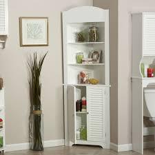 Bathroom Tower Storage Bathroom Linen Tower Corner Storage Cabinet With 3 Open Shelves In