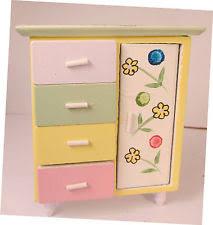 dollhouse furniture chest new miniatuere baby funituwood nursery chest wardrobe bnib ikea oleby wardrobe drawer