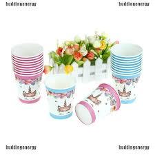 [HO&ENT]<b>10pcs Unicorn cups</b> disposable paper cups kids birthday ...