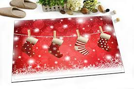 Merry <b>Christmas Decoration</b> Stylish Bath Rugs 3D <b>Digital Printing</b> ...
