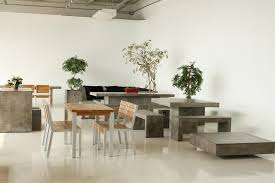 solid 200 dining table cement furniture
