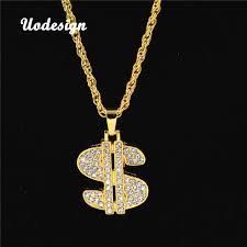 Uodesign Necklace <b>Hip Hop</b> Rap Gold Color <b>US Dollar</b> Pendant ...