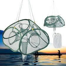 automatic foldable fishing net <b>5/9</b>/17/21 hole aquatic minnow <b>shrimp</b> ...