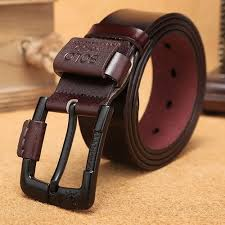 Fashion <b>Men's Youth Leather Business</b> Pin Buckle Creative Belt Belt ...