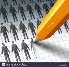 hiring employees and adding new job opportunities to a group of hiring employees and adding new job opportunities to a group of business people as a pencil