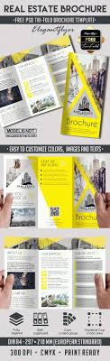 real estate tri fold psd brochure template by elegantflyer real estate tri fold psd brochure template