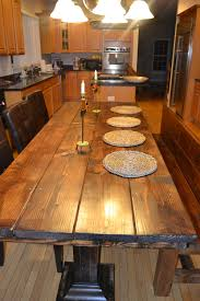 Rustic Wood Dining Room Table 1000 Images About Dining Tables On Pinterest Farmhouse Bench