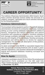 institute of business administration karachi jobs dawn jobs ads institute of business administration karachi jobs dawn jobs ads 26 2014