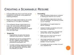 learn how to create a great resumesincerely  cecil sagehen     creating a scannable resume