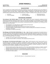 store manager resume  x store  seangarrette costore manager resume