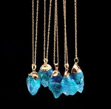 1Pc <b>Natural Stone Necklaces</b> Gold Color 9 Colors Irregular Shape ...