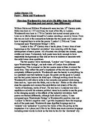 essay on city life imgjpg how does wordsworths view of city life differ from that of blake