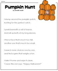 Halloween WorksheetsHaloween Worksheets - Pumpkin Poem