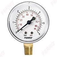 """63 mm 1/4"""" radial <b>0-6 bar pressure</b> gauge manometer"""