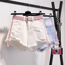 <b>S</b>-<b>5XL</b> Plus Size Ripped Denim <b>Shorts Women Korean</b> High Waist ...