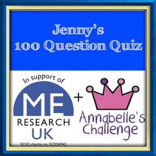 jenny s 100 question quiz in aid of m e research uk and image