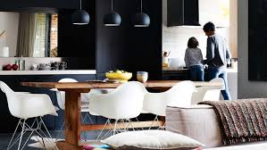 lighting hanging kitchen lights nz with brown wooden traditional dining table sets plus black simple chairs furniture plus white modern ceiling lamps idea black modern kitchen pendant lights
