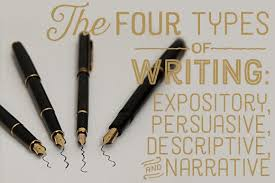 four different types of writing styles  expository  descriptive    definitions and explanations of the four types of writing  expository  persuasive  descriptive