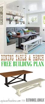 Upholstered Dining Room Bench With Back 1000 Ideas About Dining Table Bench On Pinterest Table Bench