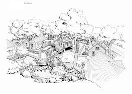 Simple Treehouse  carldrogo co itecture shelter and roof playground tree house sketch design   marvelous log floor deck and fancy landscape garden tree platform design landscape