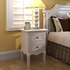 D-Shop <b>Nightstands 4 pcs</b> with 2 Drawers MDF White - Design Shop