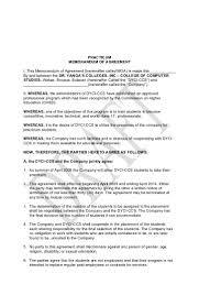 memorandum of agreement 5 practicum memorandum