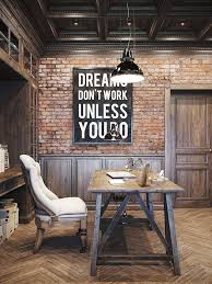brick office furniture. 25 awesome rustic home office designs brick furniture