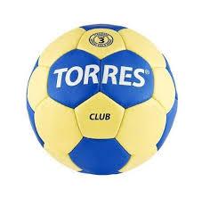 <b>Мяч гандбольный Torres Club</b> SS19, 2, желтый/синий купить ...