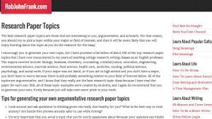 research paper topics top best research topics