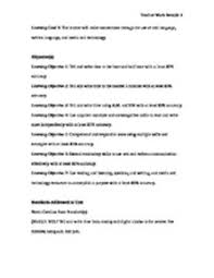 teacher work sample standard 2 learning goals and objectives showing page 1 6