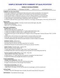 summary of qualifications sample resume sample resume 2017 resume