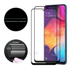 2pcs full cover glue screen protector for samsung galaxy a7 2018 glass tempered a750