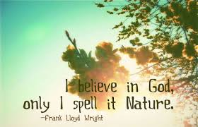 Nature Quotes - I believe in God, only I spell it nature.