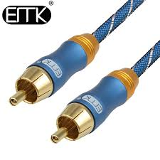 <b>EMK</b> RCA <b>Coaxial</b> Cable Male to Male <b>Coaxial Audio</b> Cable ...