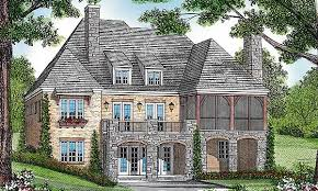 Plan W LV  Old World Outside  Modern Inside   e ARCHITECTURAL    A gorgeous European facade on the outside of this home plan belies all the modern amenities that can be found inside