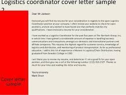 logistics manager cv template  example  job description  supply    logistics job cover letter
