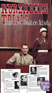 17 best ideas about nuremberg trials oct 1 history great nuremberg trials activity for a unit on the holocaust