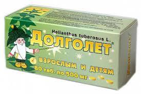 <b>Долголет таблетки</b> 500мг <b>80</b> шт. купить по выгодным ценам АСНА