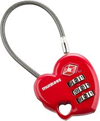 <b>Munkees</b> 740906 TSA Heart <b>Combo Lock</b>: Amazon.ca: Sports ...